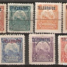Sellos: NICARAGUA.1895. TELÉGRAFOS. YT 41,42,43,44,45,46,48. Lote 169719252