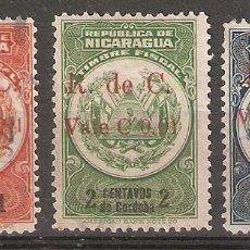 Sellos: NICARAGUA.1921. YT 424,425,427. Lote 169719804