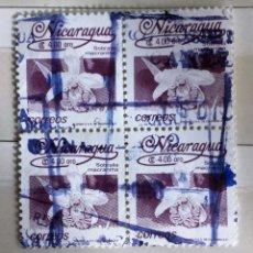 Sellos: NICARAGUA, BLOQUE DE 4 USADOS. Lote 180071538