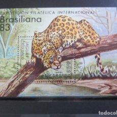 Sellos: NICARAGUA 1983 - HOJA BLOQUE USADO. Lote 180230210