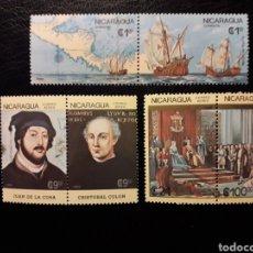 Sellos: NICARAGUA. YVERT 1433/4 + A-1171/4 SERIE COMPLETA NUEVA SIN CHARNELA. DESCUBRIMIENTO AMÉRICA. COLÓN. Lote 180909006