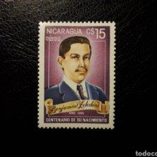 Sellos: NICARAGUA. YVERT A-1109 SERIE COMPLETA NUEVA SIN CHARNELA. BENJAMIN ZELEDÓN. HÉROE NACIONAL. Lote 180909596
