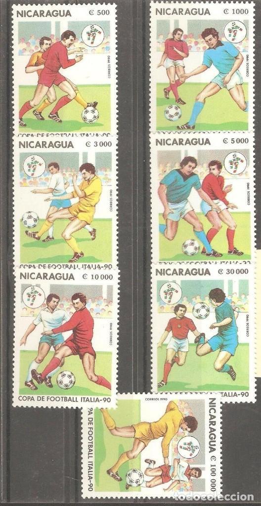 NICARAGUA, 1990,CAT.YT. 1523 A 1529, NUEVOS, GOMA ORIGINAL, SIN FIJASELLOS. (Sellos - Extranjero - América - Nicaragua)