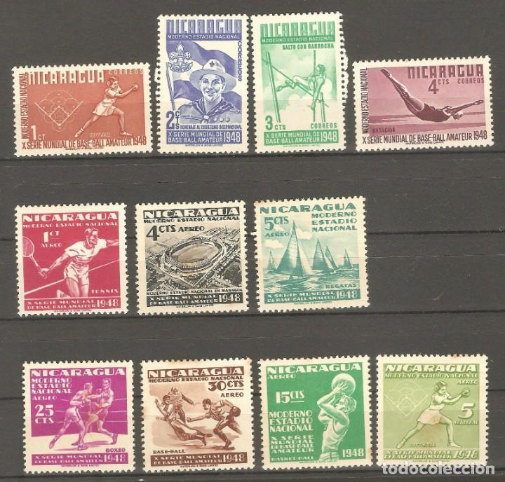 NICARAGUA,1977,11 VALORES,NUEVOS,G.ORIGINAL,CON FIJASELLOS. (Sellos - Extranjero - América - Nicaragua)