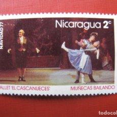 Sellos: -NICARAGUA 1977, NAVIDAD, YVERT 1076. Lote 187585553