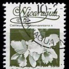 Sellos: NICARAGUA SCOTT: 1211-(1983) (FLORA NICARAGÜENSE: CATTLEYA LUEDDEMANNIANA) USADO. Lote 191394793