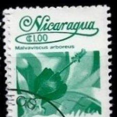 Sellos: NICARAGUA SCOTT: 1215-(1983) (FLORA NICARAGÜENSE: MALVAVISCUS ARBOREUS) USADO. Lote 191395016