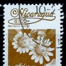 Sellos: NICARAGUA SCOTT: 1218-(1983) (FLORA NICARAGÜENSE: SENECIO SP.) USADO. Lote 191395155
