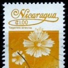 Sellos: NICARAGUA SCOTT: 1222-(1983) (FLORA NICARAGÜENSE: TAGETES ERECTA) USADO. Lote 191395378