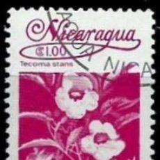 Sellos: NICARAGUA SCOTT: 1223-(1983) (FLORA NICARAGÜENSE: THUMBERGIA ALATA) USADO. Lote 191395556