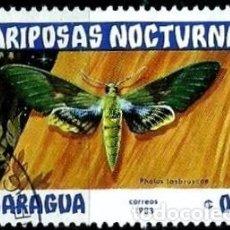 Sellos: NICARAGUA SCOTT: 1232-(1983) (MARIPOSAS NOCTURNAS: GAUDY SHINNX) USADO. Lote 191396757