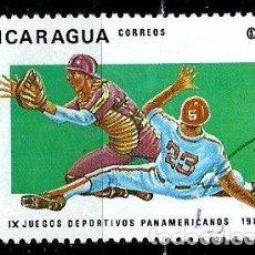 Sellos: NICARAGUA SCOTT: 1253-(1983) (JUEGOS PANAMERICANOS: BÉISBOL) USADO. Lote 191397405