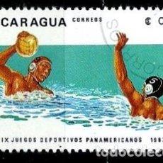 Sellos: NICARAGUA SCOTT: 1254-(1983) (JUEGOS PANAMERICANOS: WATER POLO) USADO. Lote 191397610