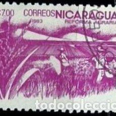 Sellos: NICARAGUA SCOTT: 1303-(1983) (REFORMA AGRARIA: ARROZ) USADO. Lote 191398150