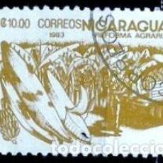 Sellos: NICARAGUA SCOTT: 1305-(1983) (REFORMA AGRARIA: BANANAS) USADO. Lote 191398445