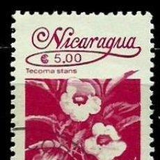 Sellos: NICARAGUA SCOTT: 1529-(1986) (FLORA NICARAGÜENSE: TECOMA STANS) USADO. Lote 191401540