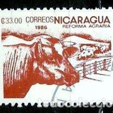 Sellos: NICARAGUA SCOTT: 1535-(1986) (REFORMA AGRARIA: GANADERÍA) USADO. Lote 191402122