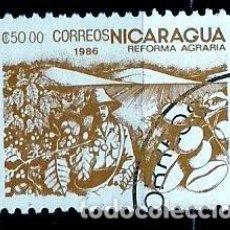 Sellos: NICARAGUA SCOTT: 1537-(1986) (REFORMA AGRARIA: CAFÉ) USADO. Lote 191402265
