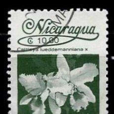 Sellos: NICARAGUA SCOTT: 1594-(1987) (FLORA NICARAGÜENSE: CATTLEYA LUEDDEMANNIANA) USADO. Lote 191403073