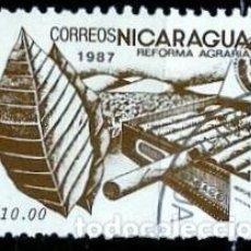 Sellos: NICARAGUA SCOTT: 1608-(1987) (REFORMA AGRARIA: TABACO) USADO. Lote 191403670