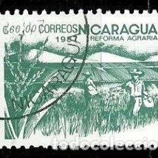 Sellos: NICARAGUA SCOTT: 1614-(1987) (REFORMA AGRARIA: ARROZ) USADO. Lote 191404180