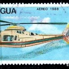 Sellos: NICARAGUA SCOTT: 1714-(1988) (AGUSTA A-109 MK II HIRUNDO; FINLANDIA'88) USADO. Lote 191406467