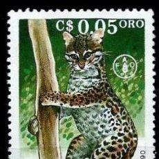 Sellos: NICARAGUA SCOTT: 1822-(1990) (OCELOTE) USADO. Lote 191406637