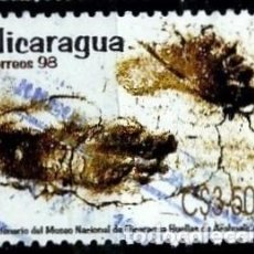 Sellos: NICARAGUA SCOTT: 2226-(1998) (HUELLAS DE ACAHUELINEA) USADO. Lote 191407428