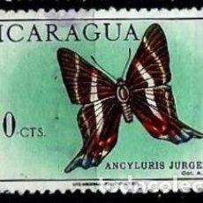 Sellos: NICARAGUA SCOTT: C609-(1967) (CORRE AEREO) (MARIPOSA: JURGENSEN'S DOCTOR) USADO. Lote 191409111