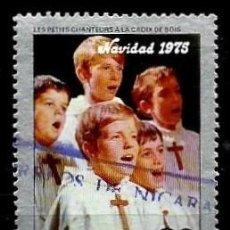 Sellos: NICARAGUA SCOTT: C889-(1975) (CORRE AEREO) (CORO CHICOS DE LA CRUZ DE MADERA; NAVIDAD'75) USADO. Lote 191409495