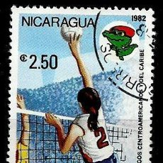 Sellos: NICARAGUA SCOTT: C1007-(1982) (CORRE AEREO) (JUEGOS CENTROAMERICANOS: BOLEIBOL) USADO. Lote 191410067