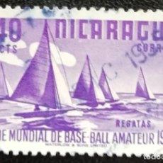 Sellos: 1949. NICARAGUA. 744. REGATAS DE VELEROS. USADO.. Lote 191793398