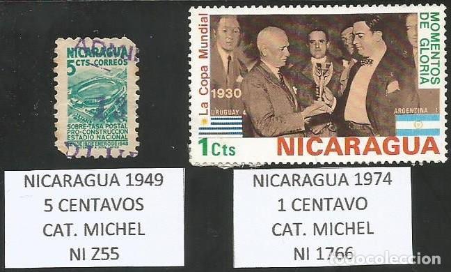 NICARAGUA VARIOS AÑOS - LOTE 2 SELLOS USADOS (Sellos - Extranjero - América - Nicaragua)