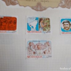 Sellos: NICARAGUA 4 SELLOS VISITA PAPAL . Lote 195322028