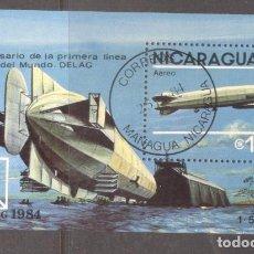Sellos: NICARAGUA 1984 ZEPPELIN PERF. SHEET MI.B158 USED TA.080. Lote 198274817