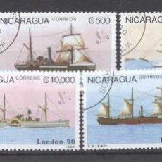 Sellos: NICARAGUA 1990 SHIPS USED DE.028. Lote 198274818