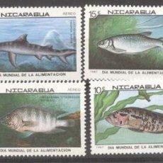 Sellos: NICARAGUA 1987 FISHES, MNH E.048. Lote 198274837