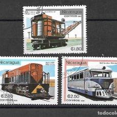 Sellos: LOCOMOTORAS DE NICARAGUA. SELLOS AÑO 1981. Lote 198361327