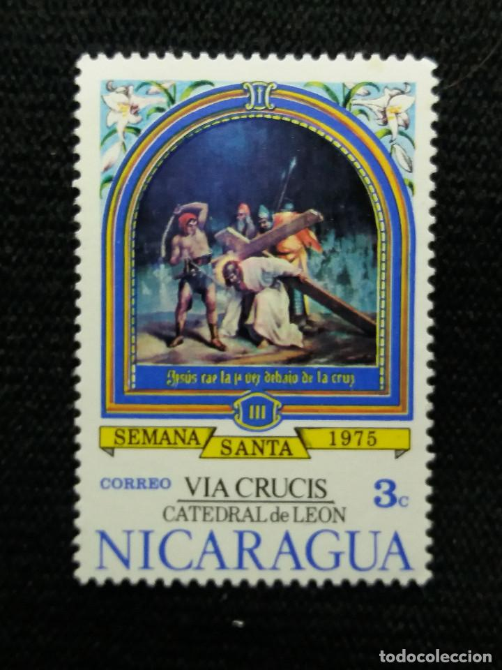 NICARAGUA,3C, SEMANA SANTA, AÑO 1975, NUEVO. (Sellos - Extranjero - América - Nicaragua)