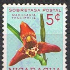 Sellos: NICARAGUA // YVERT 864 // 1962 ... USADO .. FLOR . ORQUIDEA. Lote 207329803