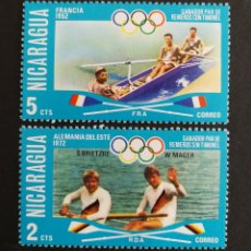 Sellos: NICARAGUA, JJ.OO DE MÚNICH Y HELSINKI 1976 (FOTOGRAFÍA REAL). Lote 208286267