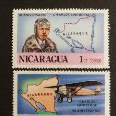 Sellos: NICARAGUA, 59°ANIVERSARIO DE LA TRAVESÍA DEL ATLÁNTICO NORTE 1977 MNH (FOTOGRAFÍA REAL). Lote 208286586