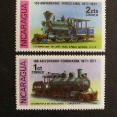 Sellos: NICARAGUA, 100°ANIVERSARIO DEL FERROCARRIL 1978 MNH (FOTOGRAFÍA REAL). Lote 208286961