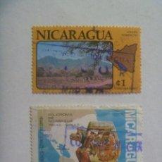 Sellos: LOTE DE 2 SELLOS DE NICARAGUA , CONMEMORATIVOS. Lote 210072246