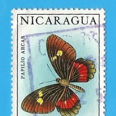 Francobolli: NICARAGUA. 1967. MARIPOSAS. PAPILIO ARCAS. Lote 210221805