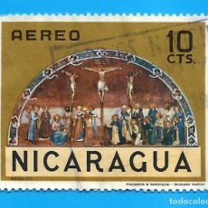 Sellos: NICARAGUA. 1968. CRUCIFIXION. FRA ANGELICO. Lote 210222745