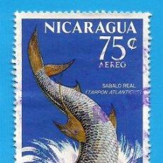 Francobolli: NICARAGUA. 1969. PECES. SABALO REAL. Lote 210223502