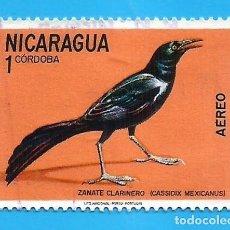Francobolli: NICARAGUA. 1971. PAJAROS. ZANATE CLARINERO. Lote 210322397