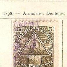 Sellos: NICARAGUA. 1898. YVERT Nº 102.. Lote 212633817