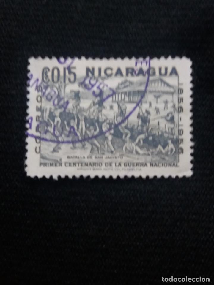 NICARAGUA, 0,15 CTS, CENTENARIO GERRA NACIONAL, AÑO 1956, (Sellos - Extranjero - América - Nicaragua)